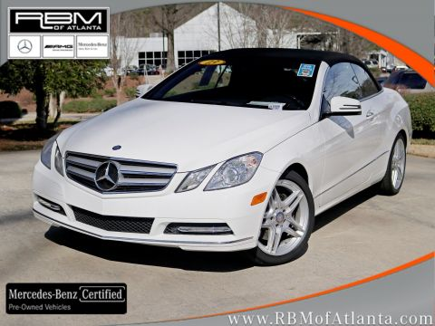 Certified Pre-Owned 2013 Mercedes-Benz E-Class E 350 Cabriolet