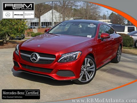 Certified Pre-Owned 2017 Mercedes-Benz C-Class C 300 Coupe