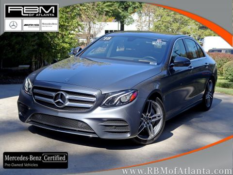 Certified Pre-Owned 2018 Mercedes-Benz E-Class E 300 Sedan
